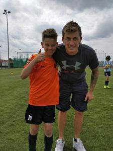 Lars with William Dutoit - Goalkeeper of STVV